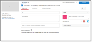 Create youtube channel - upload video
