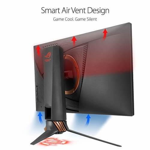 Tfue setup monitor back Asus ROG Air Vent