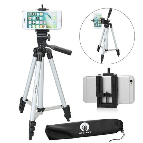 DIGIANT 50 Inch Aluminum Camera cell Phone Tripod