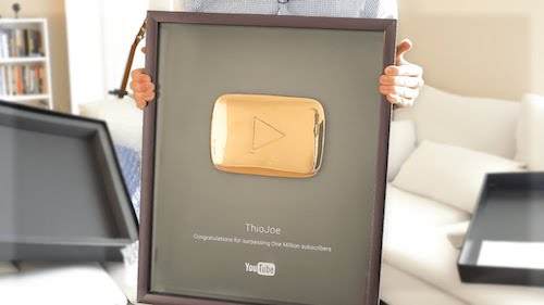 gold play button get sponsored