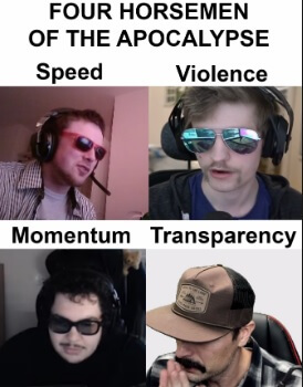 the four horsemen of apocalypse dr disrespect meme
