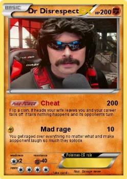 Dr disrespect gaming card cheating and rage