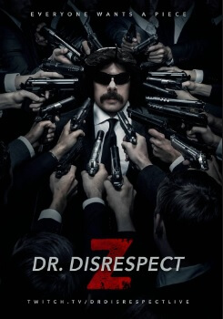 Dr disrespect movie poster with guns meme